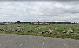 L'anse de Zanflamme, à Kernevel, dans le Morbihan, est souvent tapissée d'algues vertes.