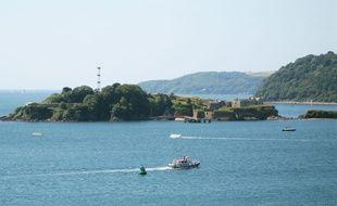 L'île de Drake, située au large de Plymouth au Royaume-Uni (illustration).