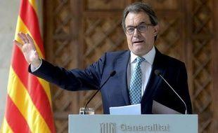 Artur Mas lors d'une conférence de presse le 14 octobre 2014 à Barcelone