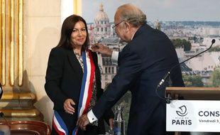 Anne Hidalgo et Pierre Aidenbaum en juillet 2020.