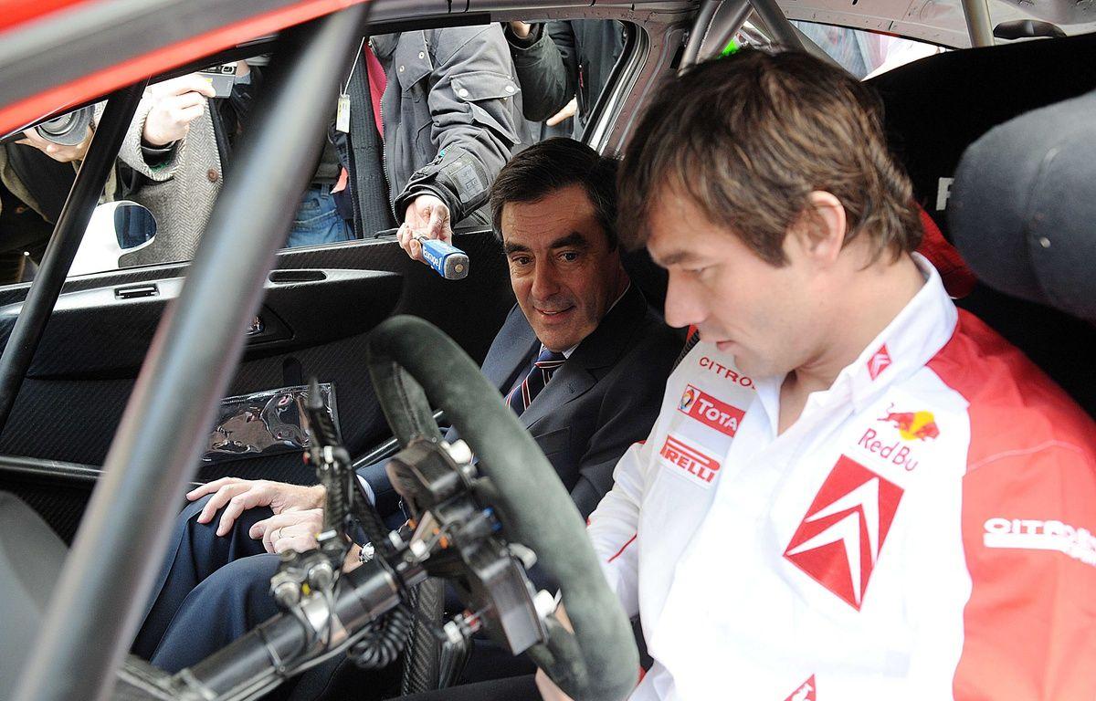 Non, François Fillon (fan de sport automobile) n'a pas décidé de devenir le copilote de Sébastien Loeb (photographié ici en 2008).  – HADJ/SIPA