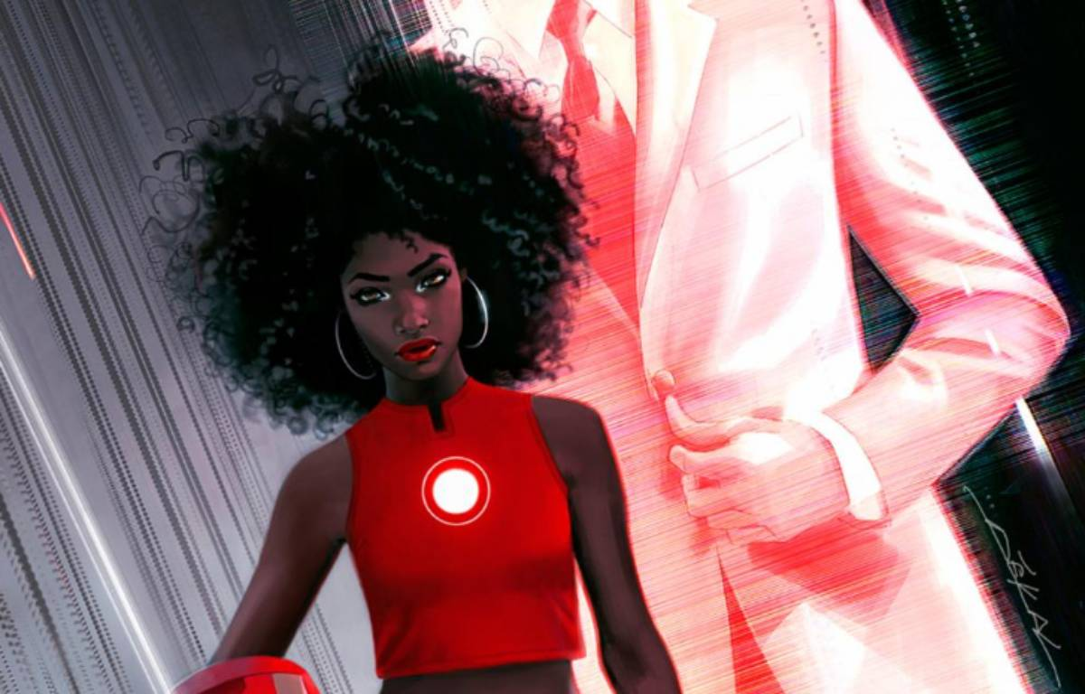 Le personnage de Riri Williams va remplacer Tony Stark derrière l'armure d'Iron Man.   – Twitter / Marvel Entertainment