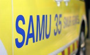 Illustration d'une ambulance de secours du Samu, ici à Rennes.