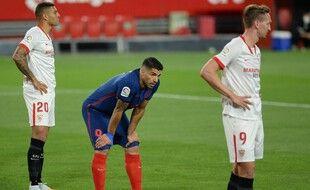 Luis Suarez n'a pas marqué face à Séville dimanche.