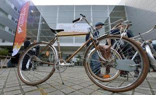 """Entrée de la Cité des Congrès de Nantes où s'ouvre """"Velo-city"""", un congrès mondial du vélo urbain et des politiques cyclables, le 3 juin 2015"""