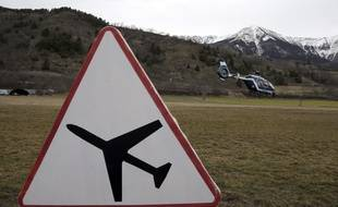 A Seyne-les-Alpes, le 25 mars 2015, après le crash de l'A320 de Germanwings.