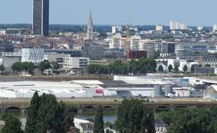 L'île de Nantes et le centre-ville de Nantes.