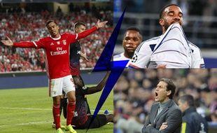 Entre le Benfica de Raul de Tomas (à gauche) et l'OL d'Alexandre Lacazette, et désormais de Rudi Garcia, qui est le plus poursuivi par la lose en Ligue des champions selon vous? Montage 20 Minutes