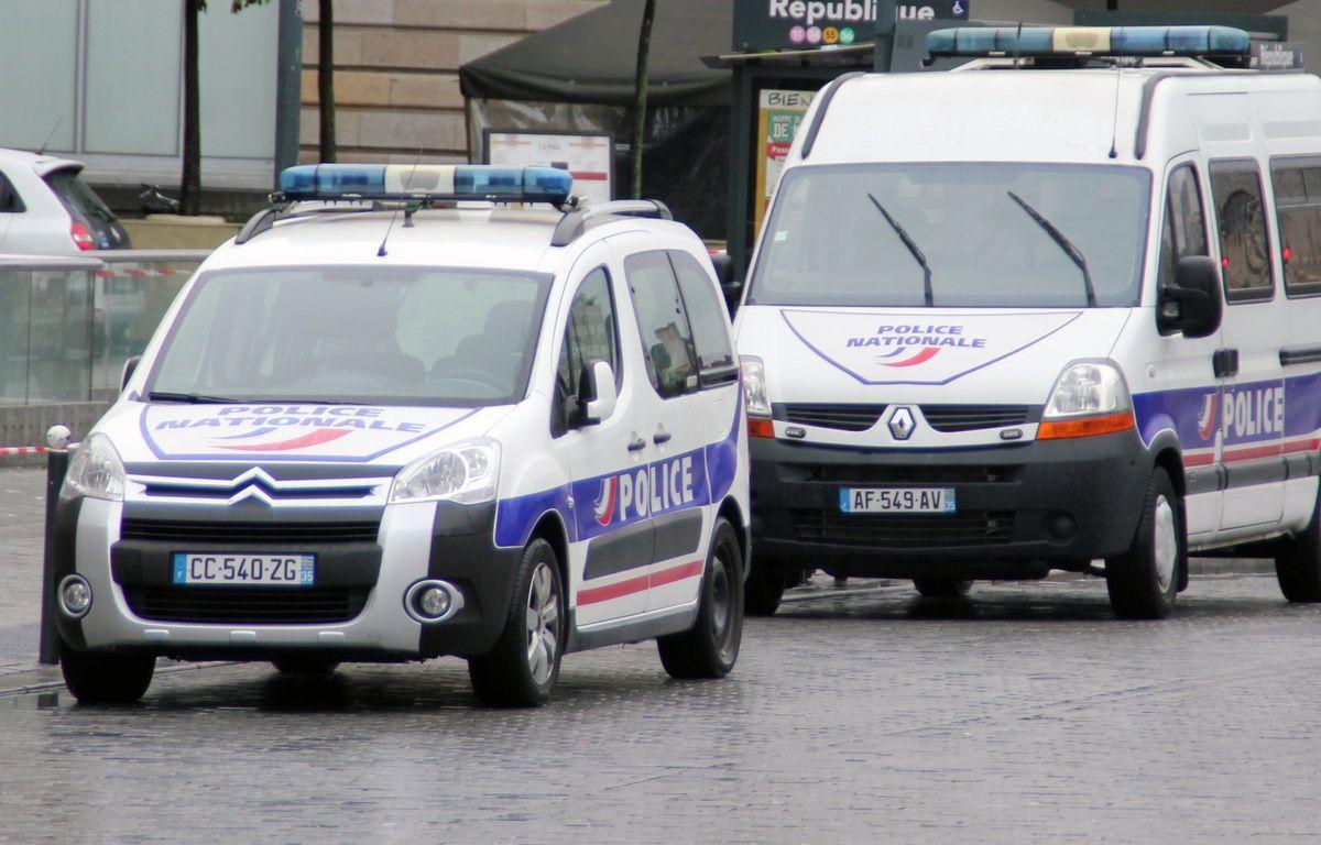 Illustration de voitures de police ici à Rennes.  – C. Allain / 20 Minutes