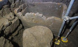 Des archéologues ont découvert ce qui pourrait être le tombeau de Romulus, le roi fondateur de Rome, dans le Forum romain, le 21 février 2019.