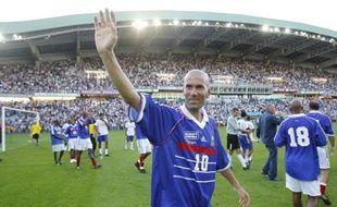 Zidane, lors du match de bienfaisance organisé par France 98, le 8 août 2010.