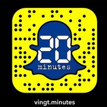 20 Minutes est sur snapchat. vingt.minutes