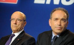 Alain Juppé et Jean-François Copé, le 26 mai 2012 à Paris.