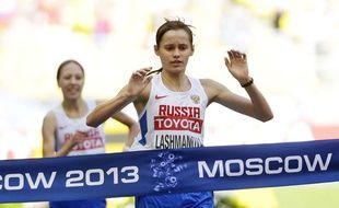 Elena Lashmanova a gagné le 20 km marche aux JO de Londres puis aux Mondiaux de Moscou avant d'être suspendue pour dopage.