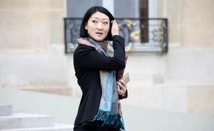 La ministre de la Culture Fleur Pellerin à l'Elysée le 18 février 2015 à Paris