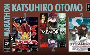 Visuel officiel du marathon de longs métrages des animes de Katsuhiro Otomo