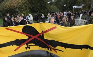 Des opposants au projet d'aéroport de Notre-Dame-des-Landes, près de Nantes, manifestent le 8 novembre 2014