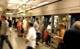 Dans le métro de Toulouse.