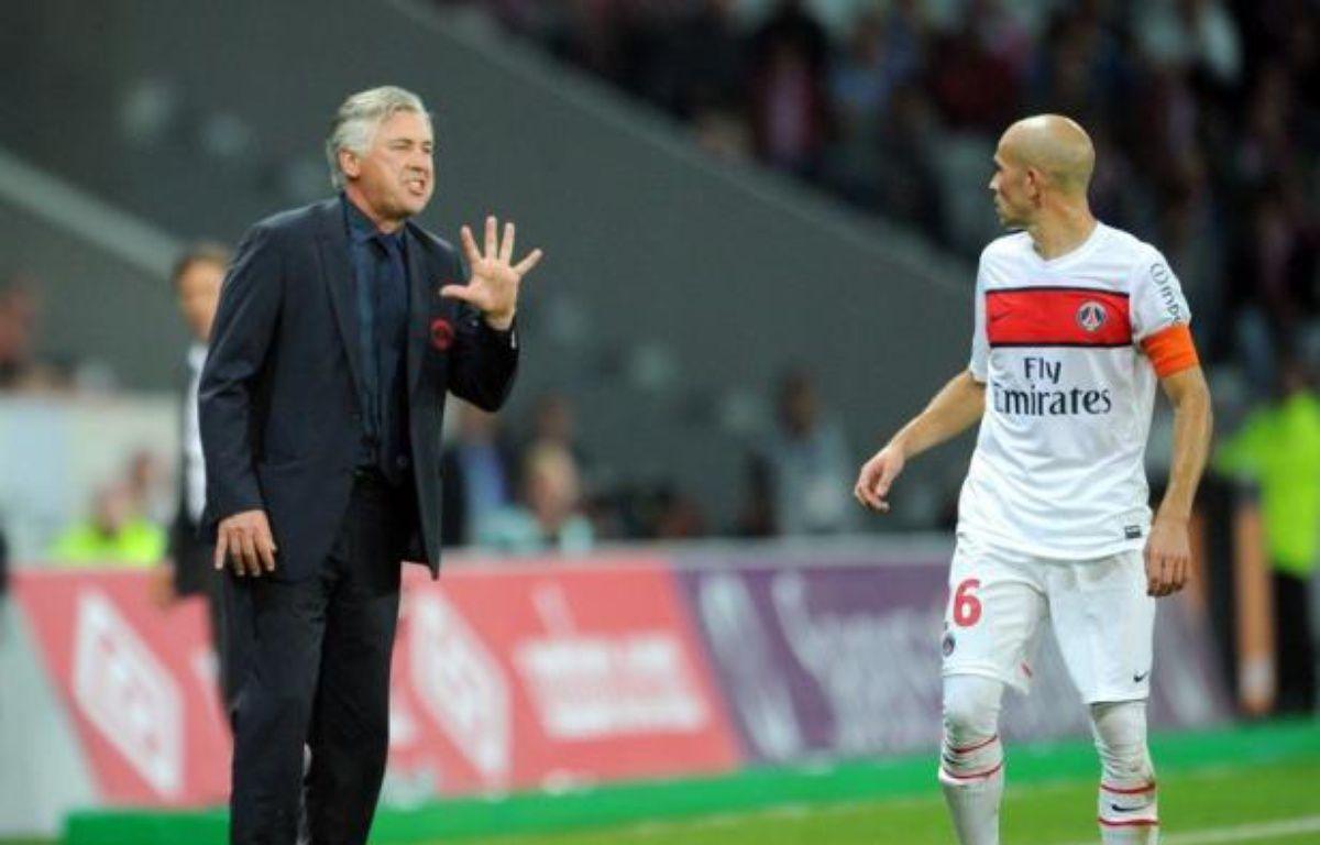 """""""Tout n'est pas parfait"""", a expliqué vendredi Carlo Ancelotti, entraîneur d'un Paris SG qui vient d'enchaîner trois succès en Ligue 1 et Ligue des champions. –  afp.com"""