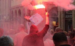 Illustration d'une manifestation, ici dans les rues de Rennes.