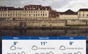 Météo Besançon: Prévisions du jeudi 13 mai 2021