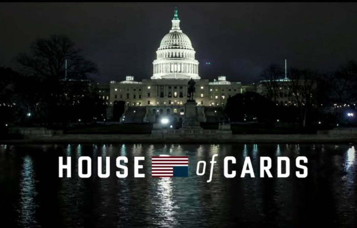 Capture d'écran du générique de la saison 4 de «House of Cards». – Capture d'écran Netflix