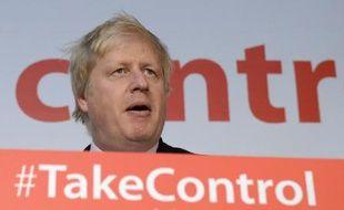 L'ex-maire de Londres Boris Johnson, chef de file du camp pro-Brexit, le 15 avril 2016 à Manchester