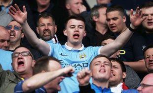 Un supporter de Manchester City contre Bournemouth le 2 avril 2016.