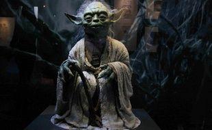 Reproduction de Yoda pour l'exposition sur Star Wars à la Cité du Cinéma.