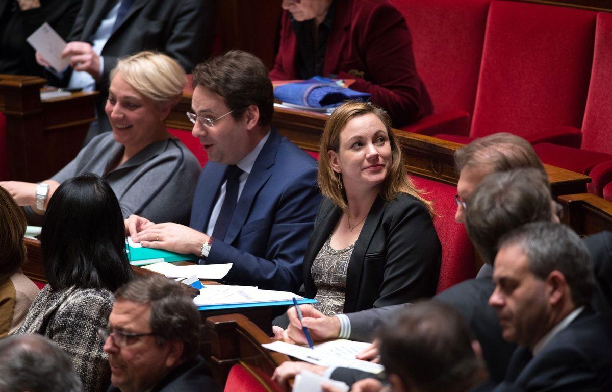 Axelle Lemaire, la secrétaire d'Etat au Numérique, à l'Assemblée, le 2 décembre 2014. –  CHAMUSSY/SIPA