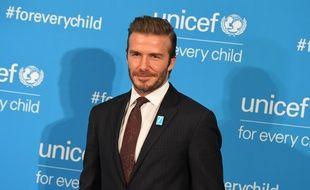 Beckham à une soirée Unicef