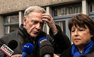 Pierre de Saintignon et Martine Aubry le 6 décembre 2015 à Lille