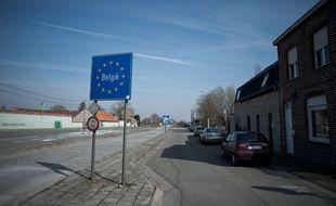 La frontière entre la France et la Belgique à Abele-Poperinge.