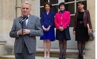 Jean-Marc Ayrault le 3 juin à Matignon, lors des annonces de la réforme de la politique familiale.