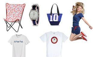 Fauteuil Cocorico Lafuma, montre Lip, sac 727 Sailbags, T-shirt Jules, T-shirt Marianne 1789 Cala, Silhouette Picture.