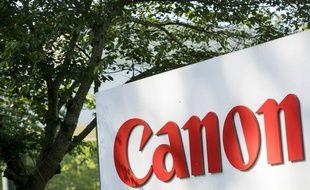Le logo de l'entreprise de photographie Canon (illustration).