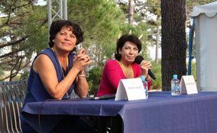 Michèle Rivasi et Corinne Lepage à Calvi