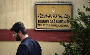L'entrée de l'ambassade d'Arabie Saoudite en Turquie, le 31 octobre 2018.