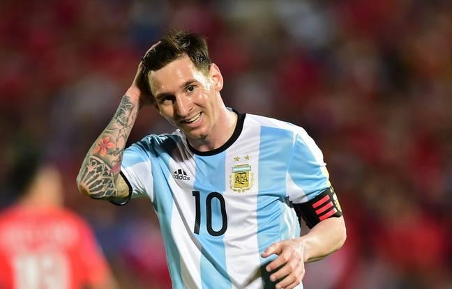 Lionel Messi dans son maillot argentin le 14 mars 2016