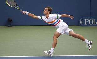 Le Français Richard Gasquet lors de son troisième tour de l'US Open, le 2 septembre 2012 à New-York