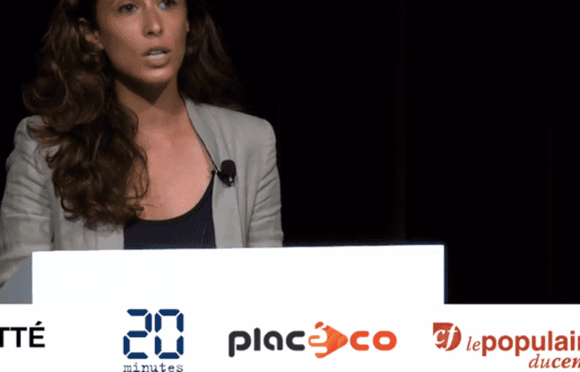 Clémence Guetté lors du débat sur les régionales organisé par 20Minutes, Placéco et Le Populaire du Centre