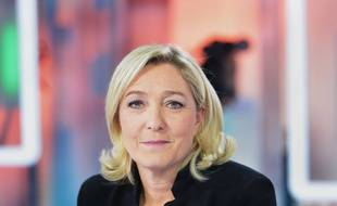 Marine Le Pen; presidente du FN, repond aux questions de Caroline Roux sur France 5 dans l'emission C Politique. Paris, FRANCE - 23/11/2014/IBO_IBOA.006/Credit:IBO/SIPA/1411232119