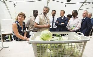 Le 27 septembre 2018, Emmanuel Macron visite une ferme centrée sur la pollution du sol causée par la chlordécone, un pesticide interdit, à Morne-Rouge, sur l'île de la Martinique.