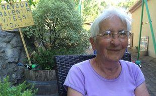 Portrait d'Odette, 88 ans, habitante de Lagrasse (Aude) en Occitanie, en juillet 2018.