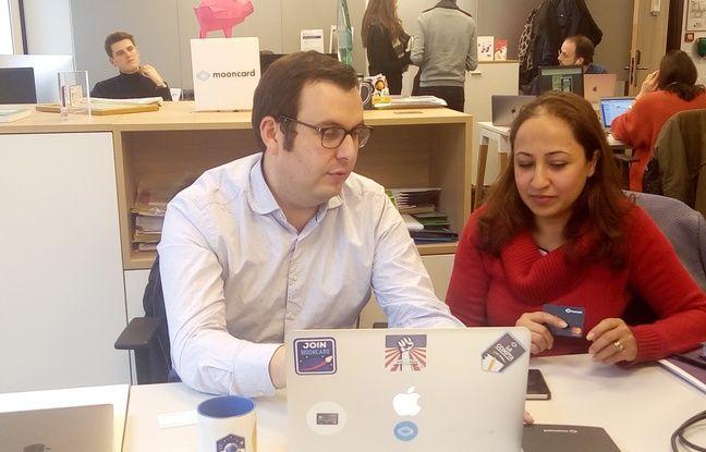 Tristan Leteurtre, CEO de Mooncard et Hanane Dinaoui, responsable commerciale.