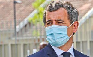 Gérald Darmanin avec un masque le 12 août 2020.