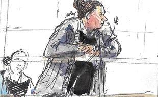 Ines Madani lors de son procès pour association de malfaiteurs terroriste.