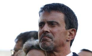 Manuel Valls, lors des commémorations des attentats du 13-Novembre, à la mairie du 11e arrondissement de Paris, le 13 novembre 2017.