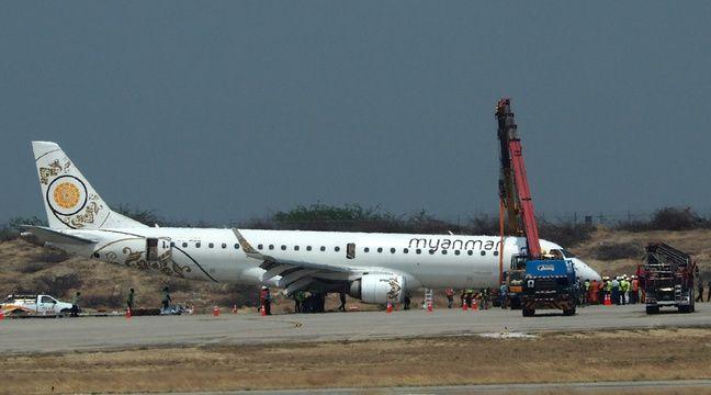 Birmanie: Atterrissage d'urgence d'un avion sans train avant