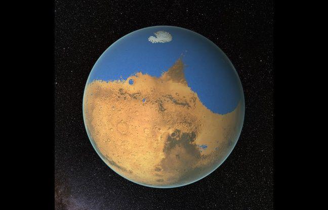 Mars - un océan recouvrait la moitié de son hémisphère nord